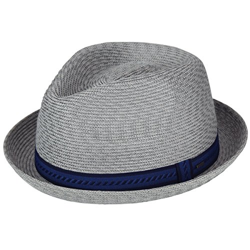 - Bailey of Hollywood Men's Mannes Braided Fedora Trilby Hat, Cement Multi, M