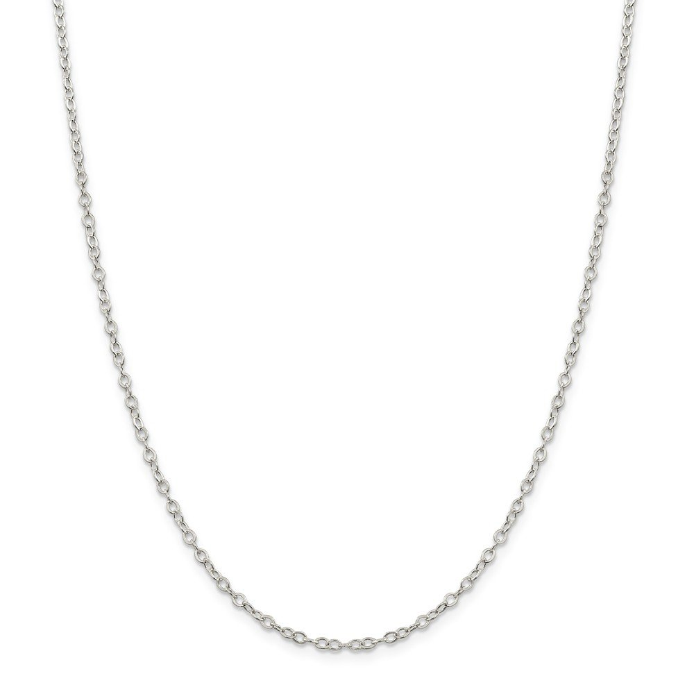 925 Sterling Silver Flat Open Oval Cable Chain Necklace in Silver Choice of Lengths 16 18 20 24 and 1.5mm 2.5mm