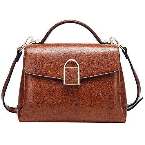 KYOKIM FLHT Sac Bandoulière Cuir Paquet Mesdames à Messenger Décontracté Paquet Main à En Sac Bag Mode Business Sauvage Brown wvxRwrqd