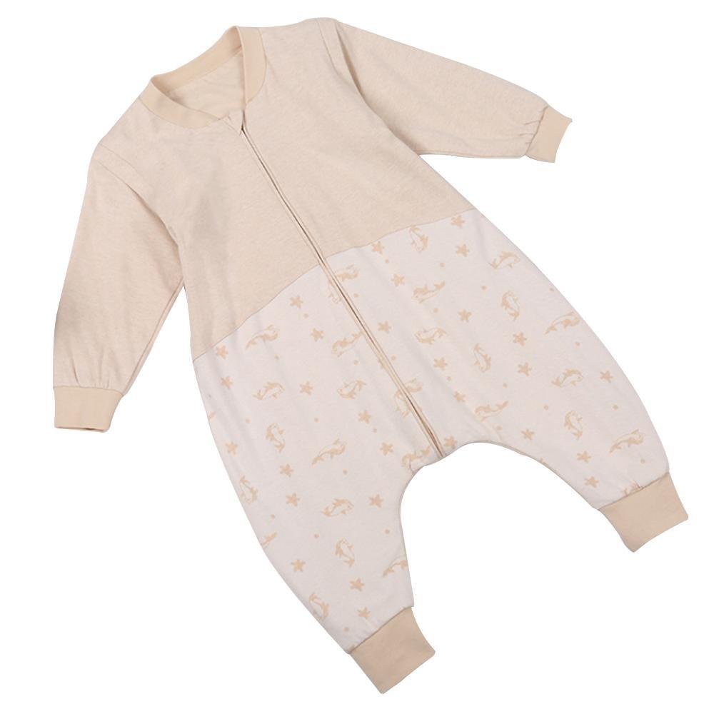 LLZJ ベビー 寝袋 スワドル ボディスーツ 新生児 サック パジャマ 通気性 脚 登山 服 ローブ 幼児 ロンパー ブランケット コットン 取り外し可能 スリーブ 90 D B07CBBZ9V6