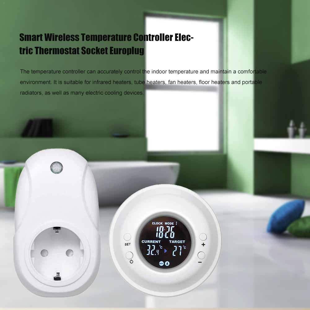 EZIZB Thermostat Prises lectriques Intelligentes sans Fil Euro ...