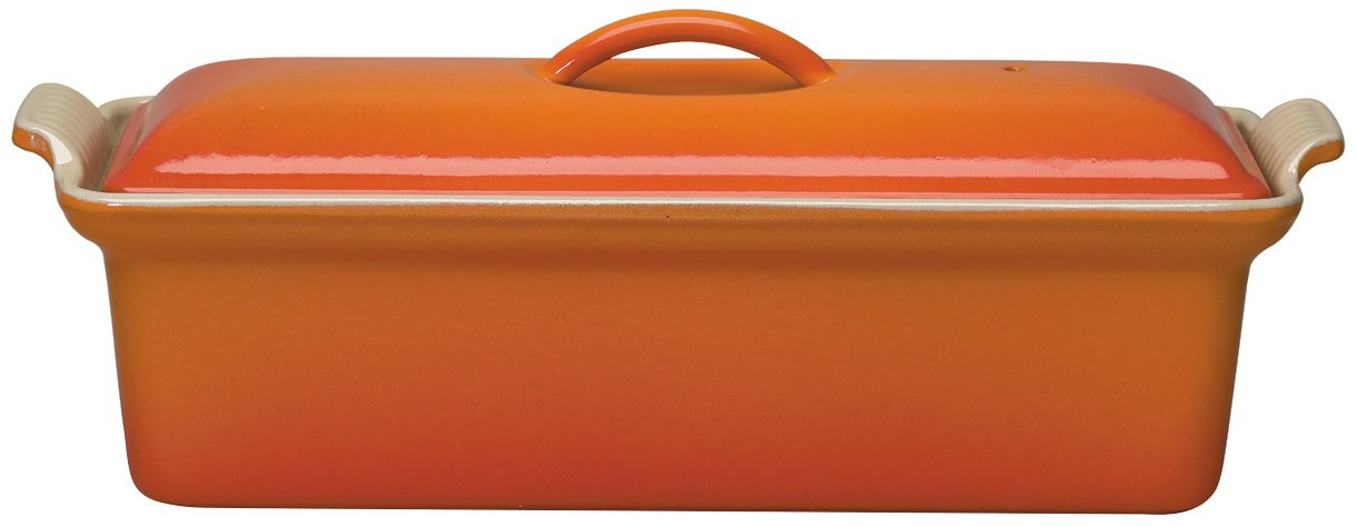 Le Creuset Enameled Cast-Iron 2 Quart Pate Terrine, Flame