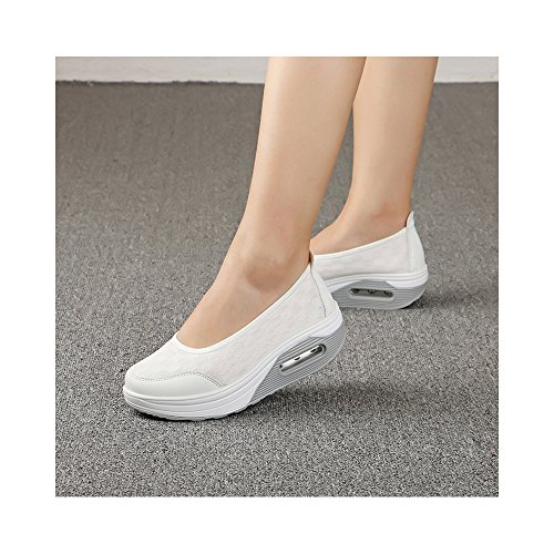 Mode Chaussures OCHENTA Confortable Eté Plein Baskets Ballerines de de Femme Air Dame Printemps Marche Sport qIpI1r