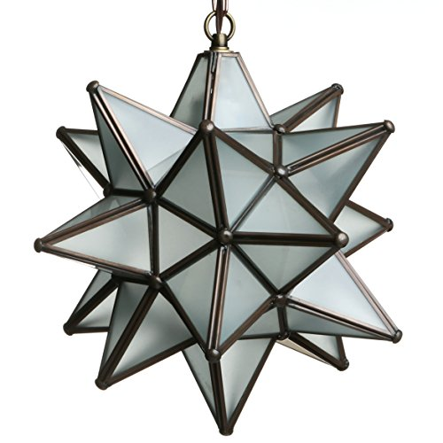 (12 Inch Moravian Star Light - Frosted White Glass)