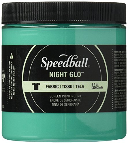 Speedball Art Products Night Glow Fabric Screen Printing Ink, 8oz, (Green Printing)