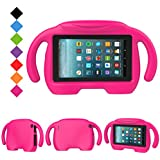 LTROP All-New Kid-Proof Case for Amazon Fire 7 Tablet (7th Generation - 2017 Release) - Rose