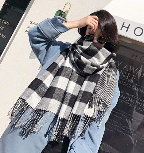 AGVBTQXZF Joker Girl Scarf Shawl Plaid Imitation Collar Knit Doble sección Larga Collar Imitation Grueso Estudiante, No. 8 aef3e2