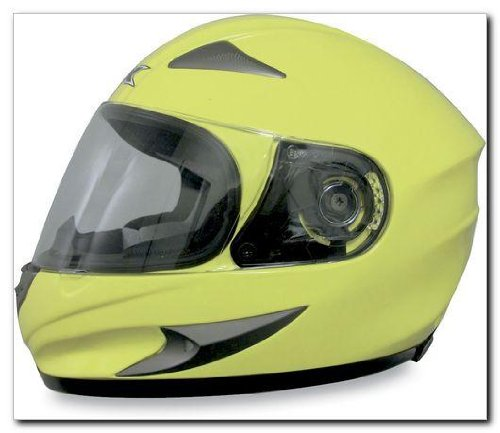 AFX FX-90 Solid Helmet , Size: XL, Distinct Name: Hi-Viz Yellow, Primary Color: Yellow, Gender: Mens/Unisex, Helmet Type: Full-face Helmets, Helmet Category: Street 0101-5746