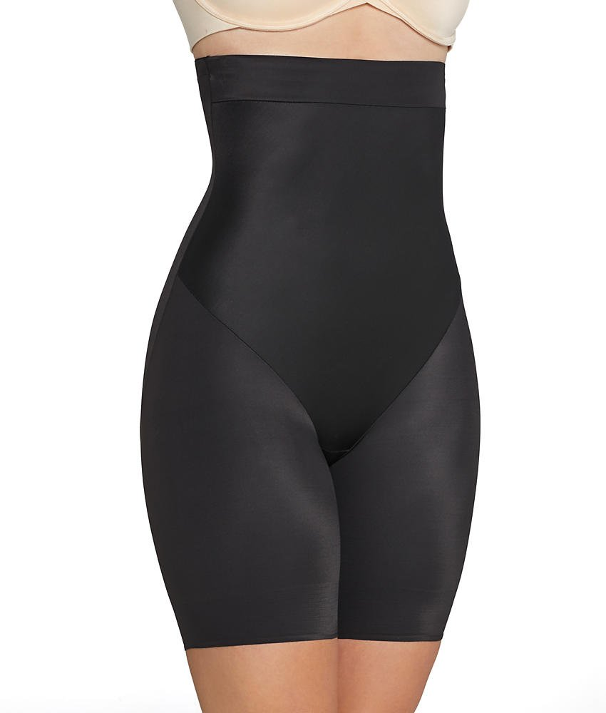 TC Fine Intimates Luxurious Comfort Firm Control Thigh Slimmer, L, Black