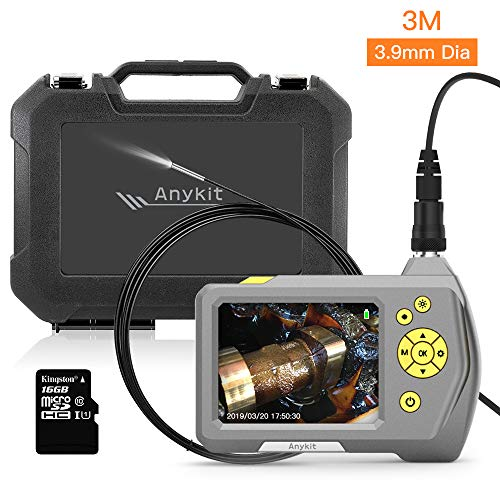 Anykit 3.9mm Dia. Micro Inspection Camera, Industrial Endoscope Borescope with 3.5