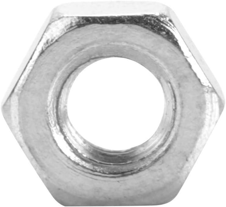 M2.5 Dado Esagonale BiuZi 100 Pezzi//Set Dado for Dadi in Acciaio al Carbonio Zincato M2 M5 Dado Filettato Interno Opzionale Taglia : M2 M3 M4