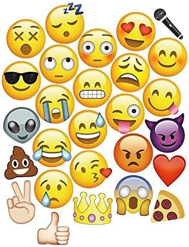 Weddecor 9 Stück Emoji Gesichter Fotostand Requisiten Für Fotografie Und Verschiedene Emoji Designs Groß Enough Zum Abdecken Das Gesicht Perfekt Für Hochzeiten Und Partys 27pcs Küche Haushalt