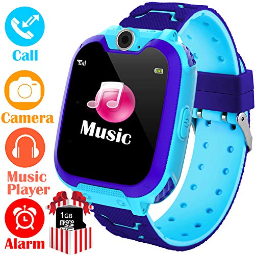 Kids Smart Watch for Boys Girls - HD Touch Screen Sports Smartwatch Phone with Call Camera Games Recorder Alarm Music Player for Children Teen Students Age 3-12 (03 - Dial Watch Eye