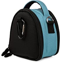 Baby Blue VG Laurel Edition Stylish Nylon Camera Carrying Case Pouch for Canon PowerShot IXUS 1000 HS IXY 50S SD4000 IS IXUS 300 HS IXY 30S SD3500 IS IXUS 210 IXY 10S SD1400 IS IXUS 130 IXY 400F SD1300 IS IXUS 105 IXY 200F SD940 IS IXUS 120 IS SD980 IS IXUS 200 IS SD960 IS IXUS 110 IS SD1200 IS IXUS 95 IS SD780 IS IXUS 100 IS Compact Digital Cameras