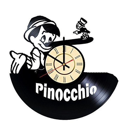 (Fun Door Adventures of Pinocchio Vinyl Record Wall Clock - Get Unique Nursery Wall Decor - Gift Ideas for Kids and Teens - Walt Disney Unique Art)