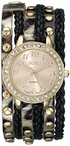 XOXO Women's XO5601 Black and Gold Braided Wrap (Braided Womens Watch)