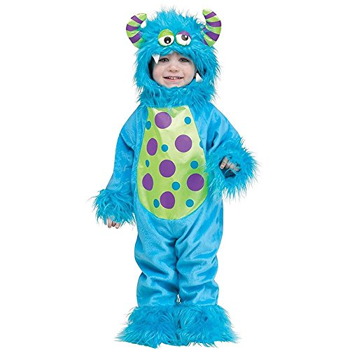 Fun World Costumes Baby's Li'L Monster Infant Costume, Blue, (Lil Monster Costume)