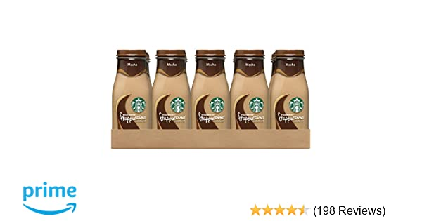 Starbucks Frappuccino Drinks, Mocha Flavor, 9.5 Ounce Glass Bottles (15 Bottles)