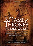 Game of Thrones Puzzle Quest by Tim Dedopulos (9-Oct-2014) Hardcover