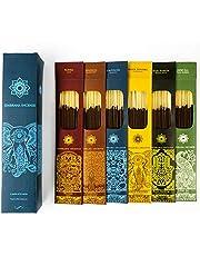 Jembrana Incense Sticks- Mix 6 Scents (144 Sticks Total), 24 Sticks Each of Lotus (Padma), Sandalwood, Gardenia, Maha Triloka, Raja Harum & Dewi Sai (Amber), Gift Sets from Bali Soap