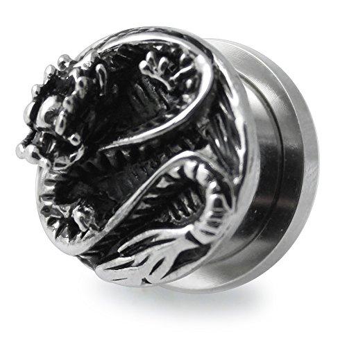 0 Gauge - 8MM Casting Dragon Sugical Steel Flesh Tunnel Ear Plug
