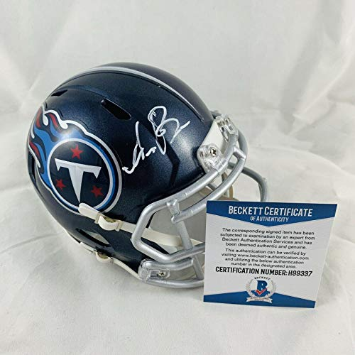 Aj Brown Signed Tennessee Titans Speed Mini Helmet Authentic Bas Coa #h99337 - Beckett Authentication ()
