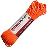 Paracord Planet Mil-Spec Commercial Grade 550lb Type III Nylon Paracord Reflective Colors (Neon Orange, 100)