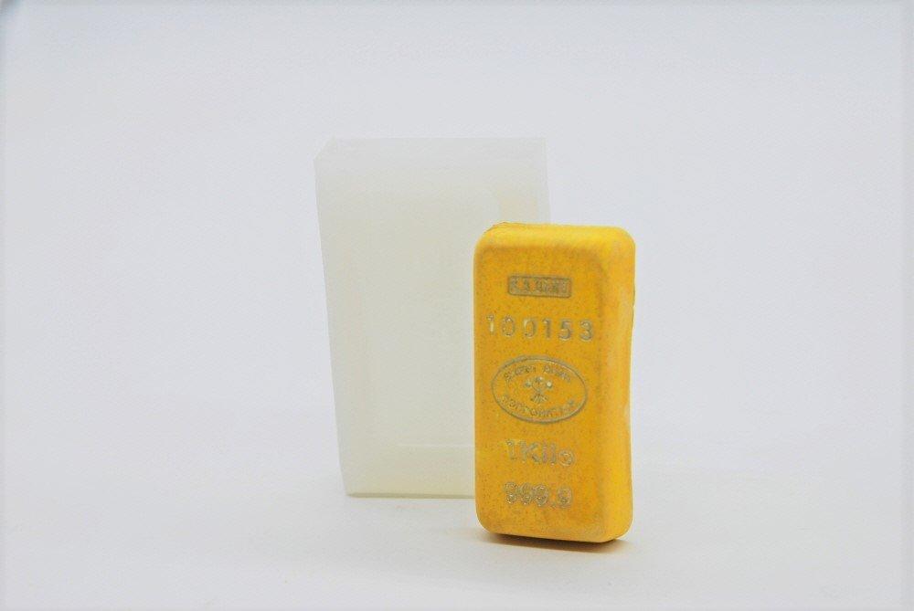 Mini Gold Bar, Handmade Silicone Mold Mould sugarcraft Candle Clay ice Tray Chocolate soap Making MOLDB