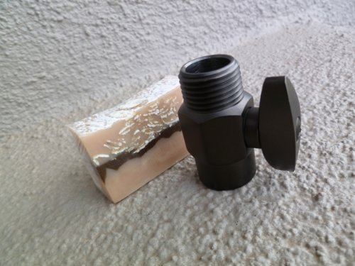 Brass Flow Control Valve with Handmade Soap (2 Piece Bundle) – Oil Rubbed Bronze
