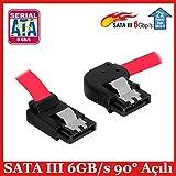 SATA III 6GB/s 90° Sağ/Yukarı Açılı Kilit Mekanizmalı Bağlantı Kablosu - 50 cm