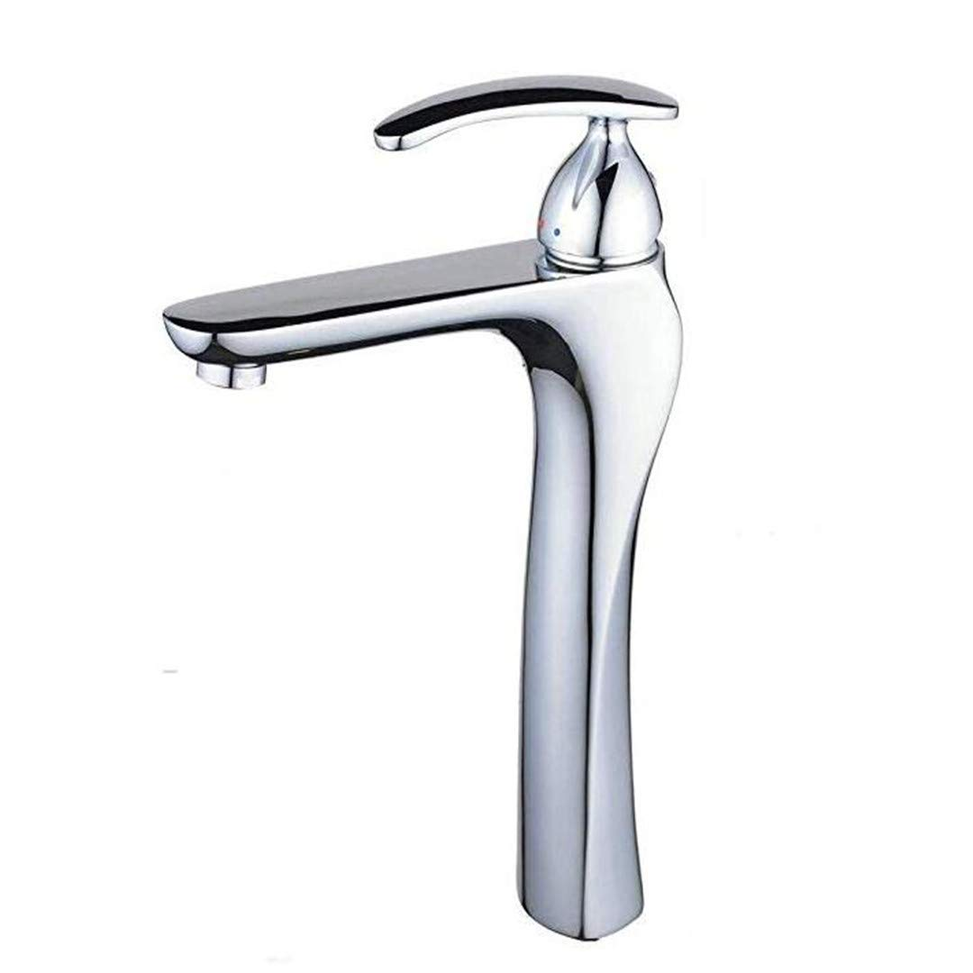 Oudan Taps Kitchen Faucetbathroom Sink Tapchrome Single Lever Tall High Rise Mixer Tap Easy Lever Control Handle (color   -, Size   -)