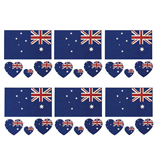 YaptheS Australia Flag Tattoos Sticker Waterproof Temporary Tattoos Sweatproof Face Body Decor Stickers Party Decorations 6pcs/set Useful and Beautiful]()