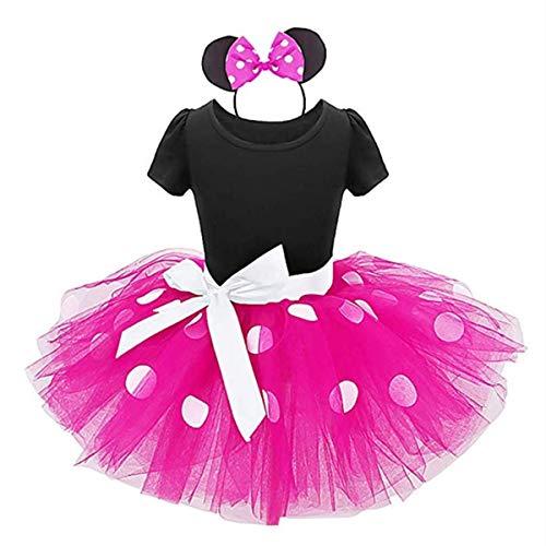 Z-YQL Babymeisjes polkadots turnpakje jurken Fancy Dance Kostuum Cosplay Verjaardag Feest Tutu Verkleden Hoofdband