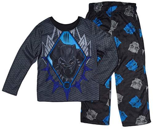 Black Panther Boys Fleece Pajama Set (L (10/12))