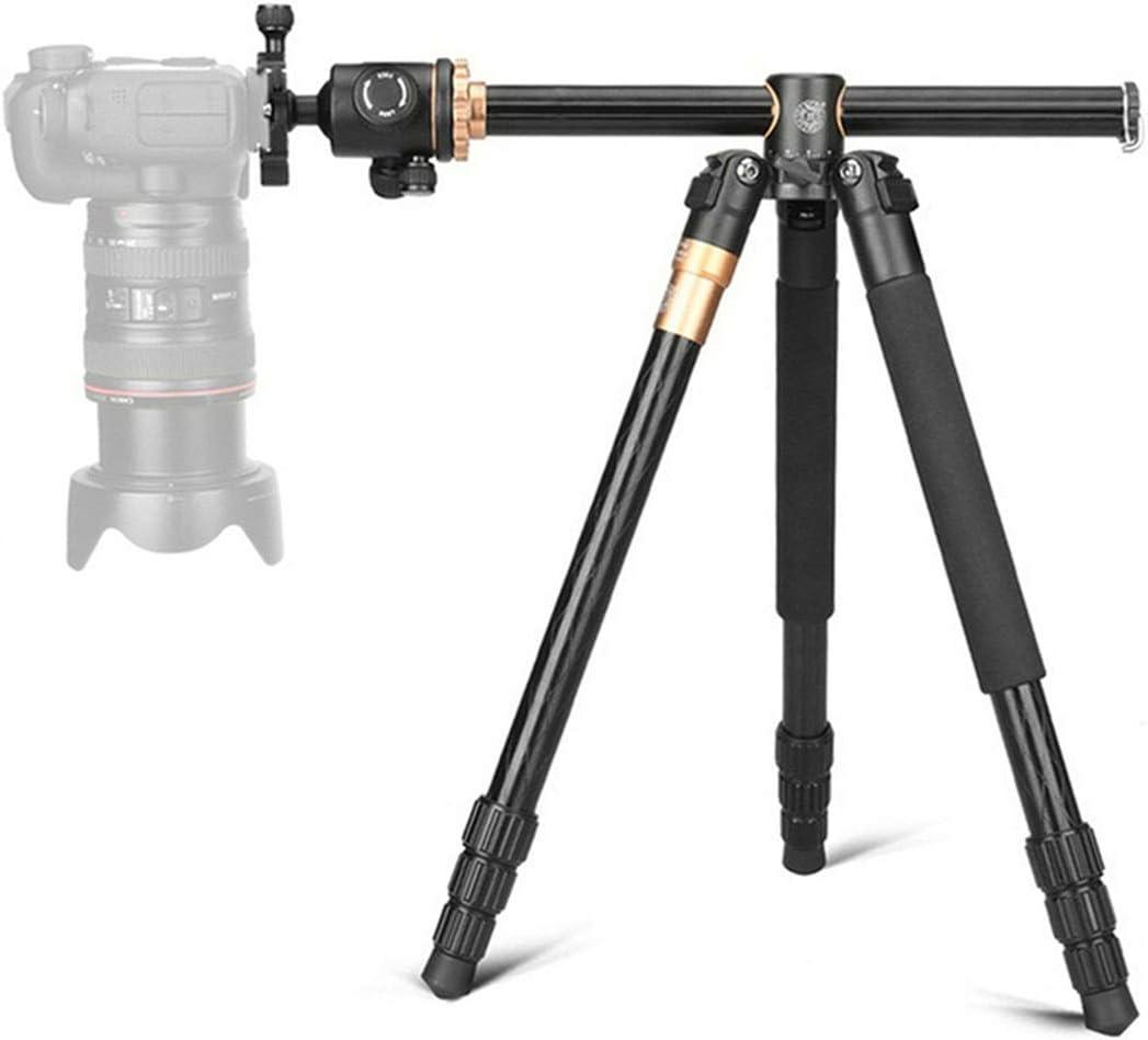 "LLluckyHW Outdoor Compact Aluminum Video Camera Tripod Monopod Travel and Work Projectors Tripod Camera Tripod 61/""Cameras Up to 17 Pounds Color : Black"