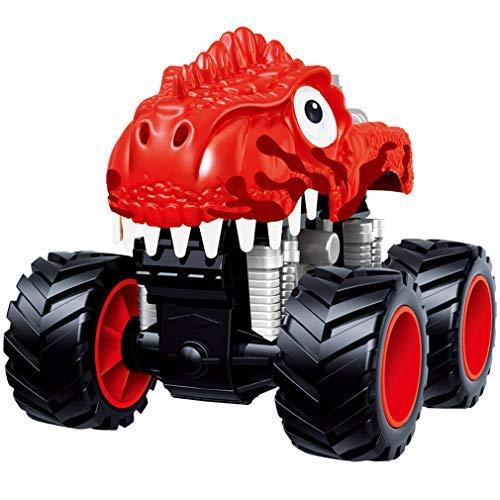 PBOX Dinosaur Monster Truck Toys,Stunt 360° Spin Friction Powered Cars for Kids,Push and Go Vehicles Toddler Toys for Aged 3-12 Year Old Boys & Girl Gift (2) (Girls Monster Trucks Toys)