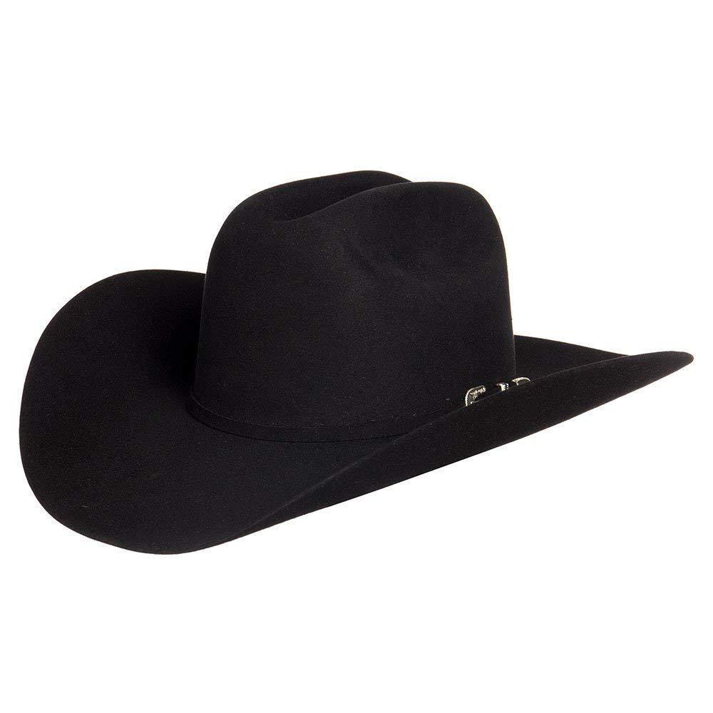 Stetson Hats Mens Hats 6X Skyline 4 1/4 Brim Pre Creased Felt Cowboy Hat 73/8 Black