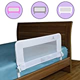 Toddler Bed Rail Guard for Convertible Crib, Kids Twin, Double, Full Size Queen & King, Bedrails by ComfyBumpy (White)