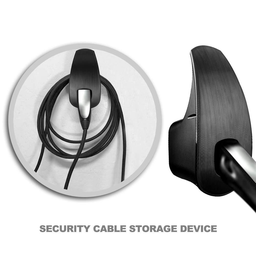 for Tesla Motors Wall Mount Connector Cable Organizer Bracket Charger Holder Adapter for Model S Model X Model 3 SUMK Model 3 Charger Cable Organizer Black Black