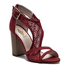 4b1f815bcad Athena Women s Emily Chunky Block Heel Designer Lace Sandals .