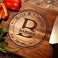 Personalized Cutting Board Anniversary Gift - Anniversary Gifts for Him or Her USA Handmade Wood Cutting Board - Anniversary Gifts for Men, Women and Parents