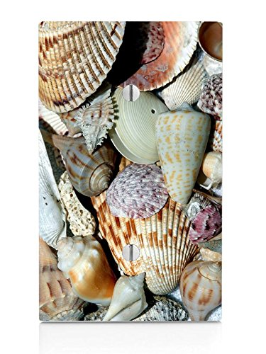 Seashells Seashell Beach Ocean Sand on the Coast Single Blank Electrical Switch ()