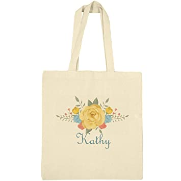 11b780d6edf8 Amazon.com: Kathy Floral Bag: Canvas Bargain Tote Bag: FunnyShirts