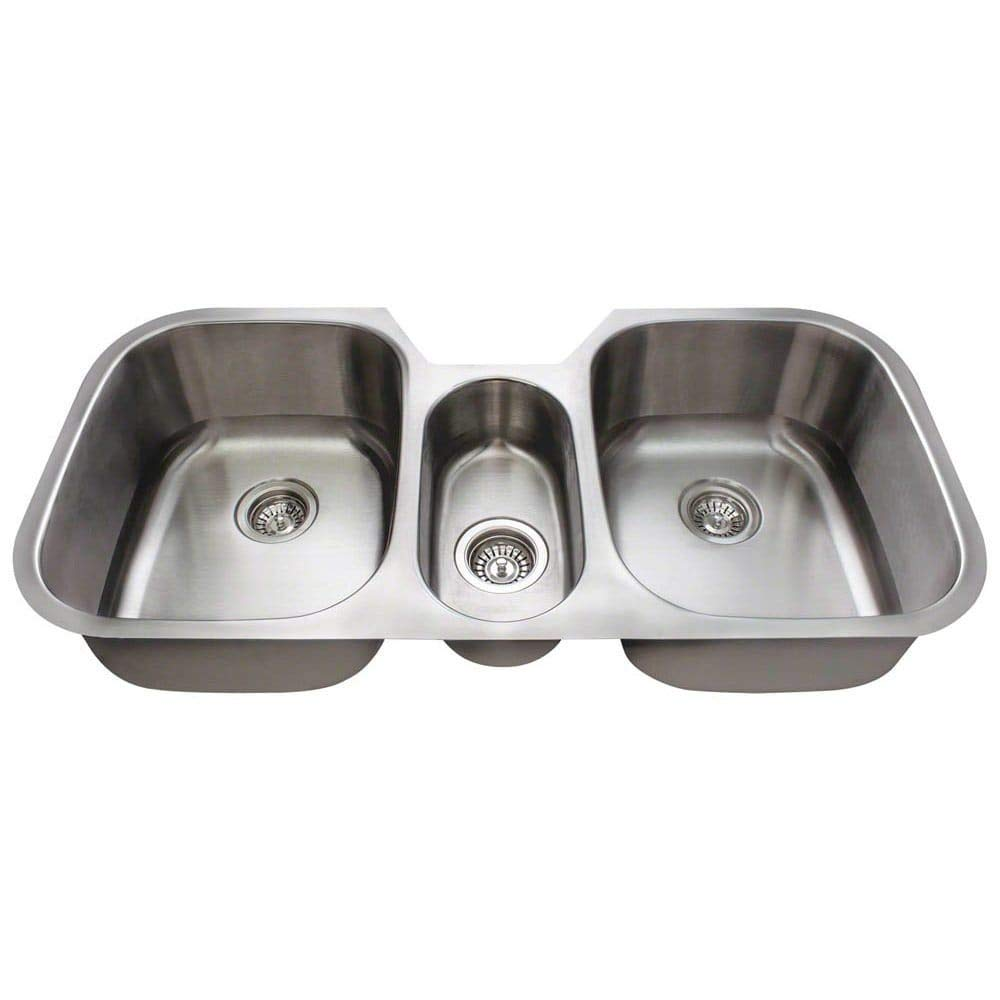 42.75'' x 20.75'' Triple Bowl Stainless Steel Kitchen Sink
