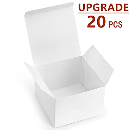 Valbox 20 Pack White Gift Boxes 5 X 5 X 3 5 Paper Gift Boxes With Lids For Gifts Thanksgiving Crafting Cupcake Cardboard Boxes Easy Assemble