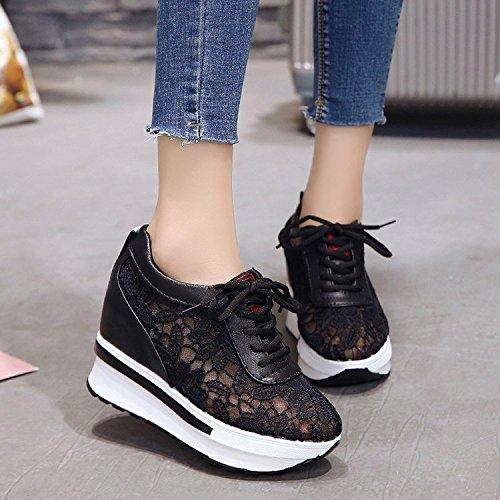 le donne black estate primavera pizzi respirabile GTVERNH scarpe maggiore sportive scarpe corrispondenza trentotto scarpe spesse CnZxTt6wqv