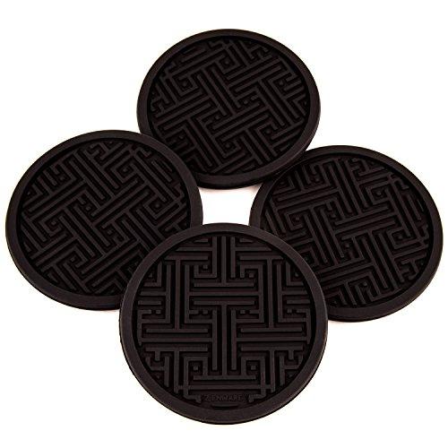 zenware-non-slip-silicone-drink-coaster-set-set-of-4