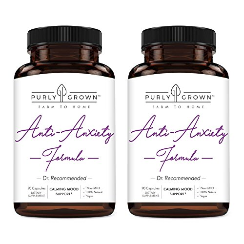 Anxiety and Stress Relief 1275mg Ashwagandha Blend Herbal Supplement: Natural Serotonin Booster For Relaxation, Mood and Focus - Promotes Calm and Improved Energy (Pack of 2)