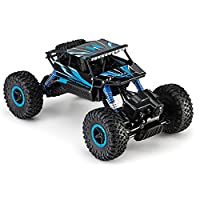 Toydaloo Remote Radio Control 4WD Off-Road Monster Crawler, Rock & Pebble Climber, with 2.4Ghz, Electric Fast Racing Hobby Car by (Blue)