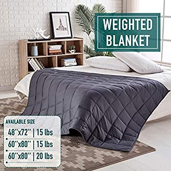 Image of Weighted Blanket 15 lbs, 48''x72'', Weighted Blanket, Weighted Blanket Adult, Weighted Blanket, Heavy Blanket, Weighted Blanket for Adults, Weighted Blankets, Weighted Blanket 15lbs, 48?x72? Rose Home Fashion B07PVJPCGV Weighted Blankets
